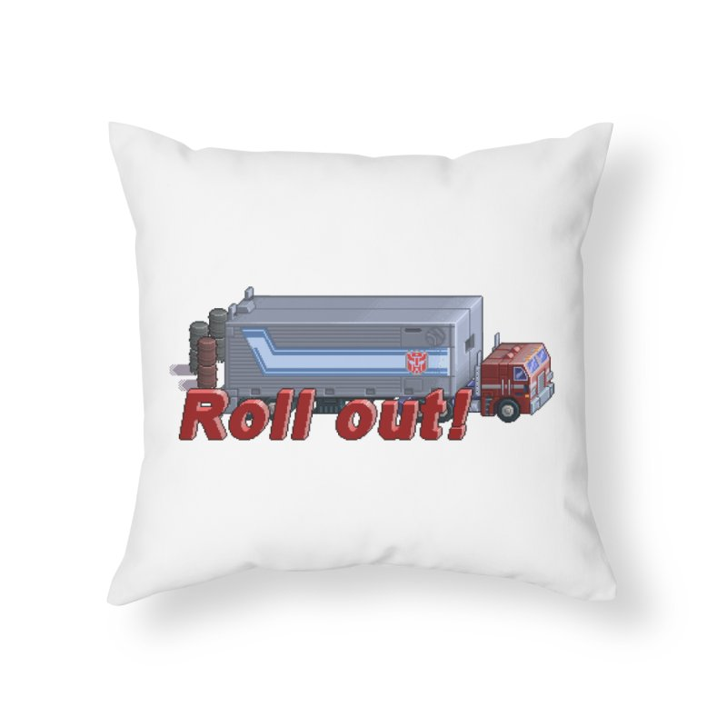 Transform and Roll out! Home Throw Pillow by Pixel Panzers's Merchandise