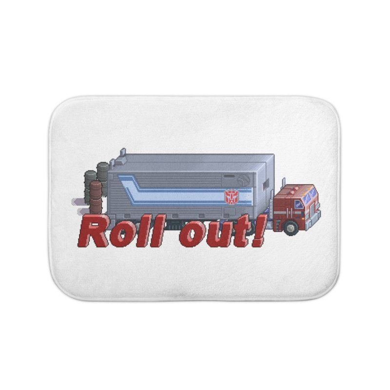 Transform and Roll out! Home Bath Mat by Pixel Panzers's Merch Emporium