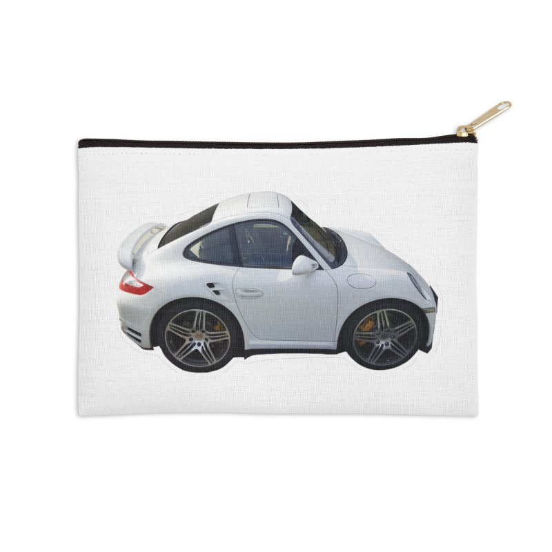 Mini 911 Turbo  Accessories Zip Pouch by Pixel Panzers's Merch Emporium