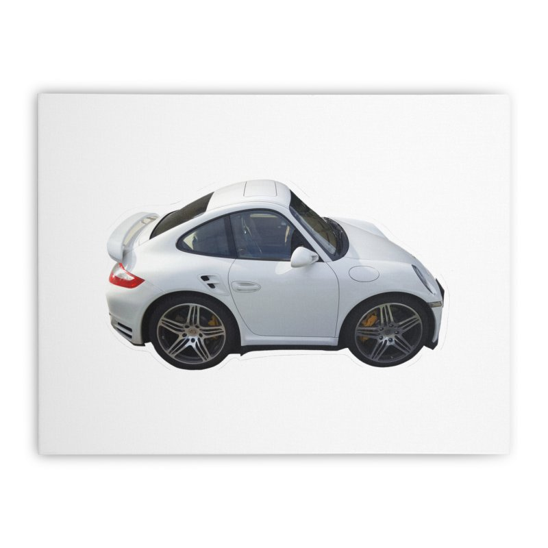 Mini 911 Turbo  Home Stretched Canvas by Pixel Panzers's Merch Emporium