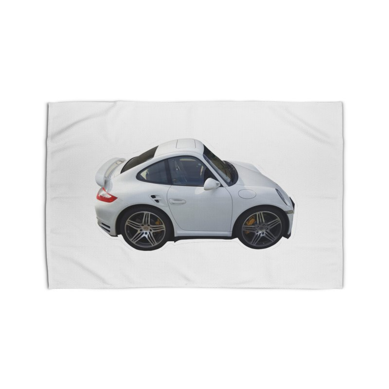 Mini 911 Turbo  Home Rug by Pixel Panzers's Merch Emporium