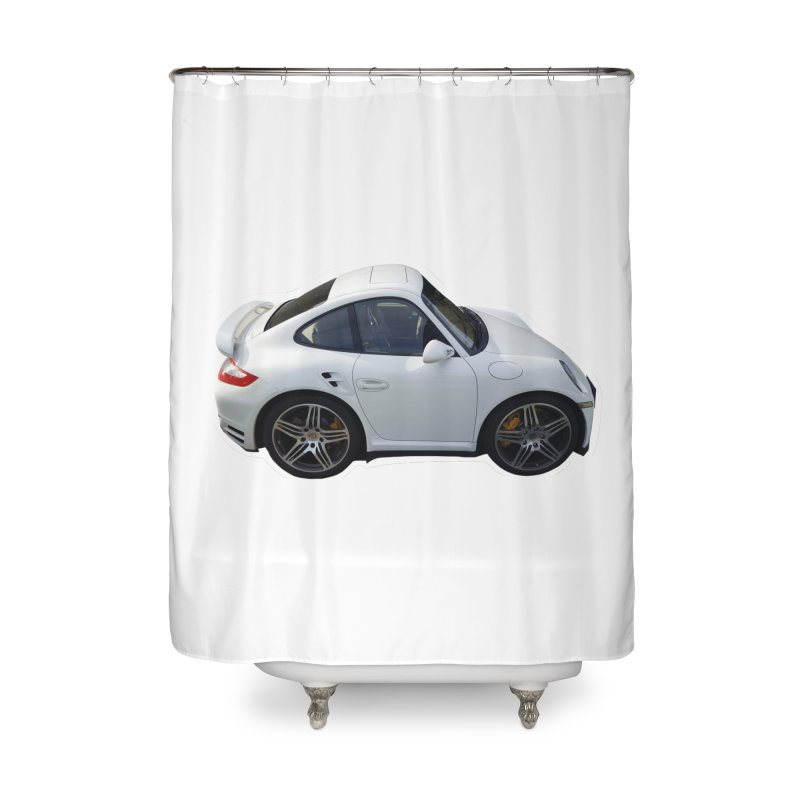Mini 911 Turbo  Home Shower Curtain by Pixel Panzers's Merch Emporium
