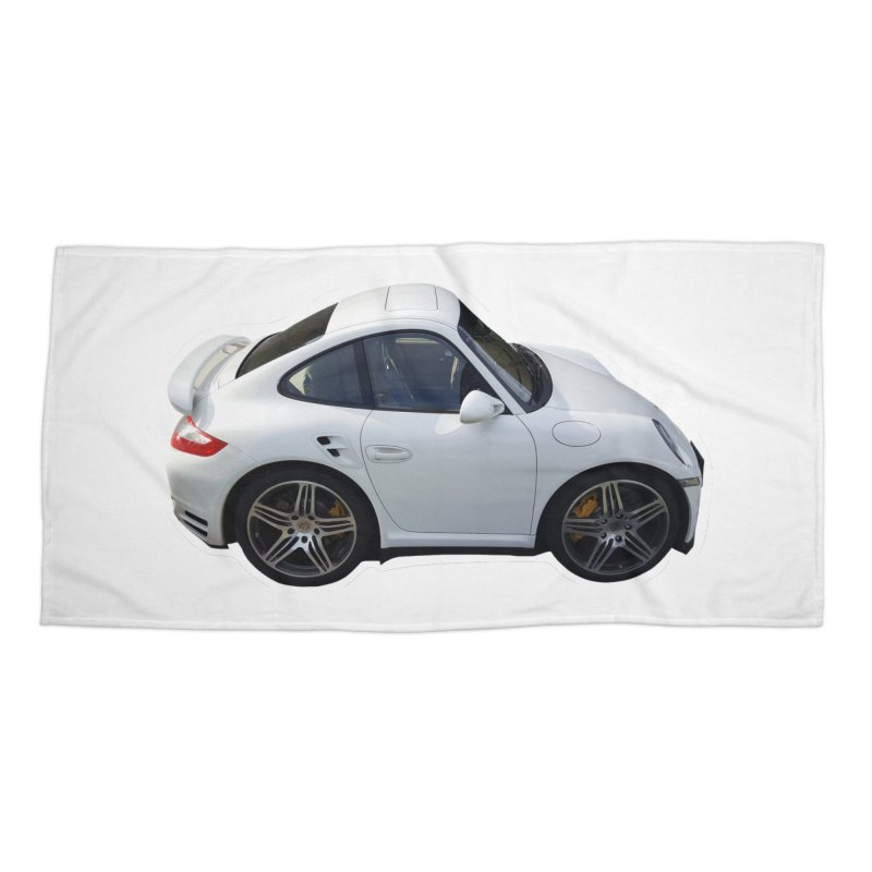 Mini 911 Turbo  Accessories Beach Towel by Pixel Panzers's Merch Emporium