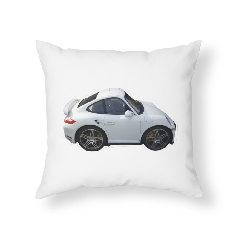 Mini 911 Turbo  Home Throw Pillow by Pixel Panzers's Merch Emporium