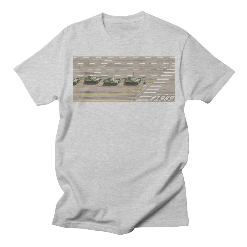1989 Tiananmen Square Tankman Pixel Art Piece Women's Regular Unisex T-Shirt by Pixel Panzers's Merchandise