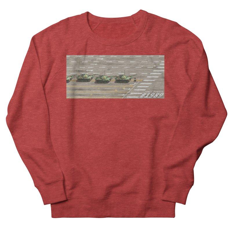 1989 Tiananmen Square Tankman Pixel Art Piece Women's French Terry Sweatshirt by Pixel Panzers's Merchandise