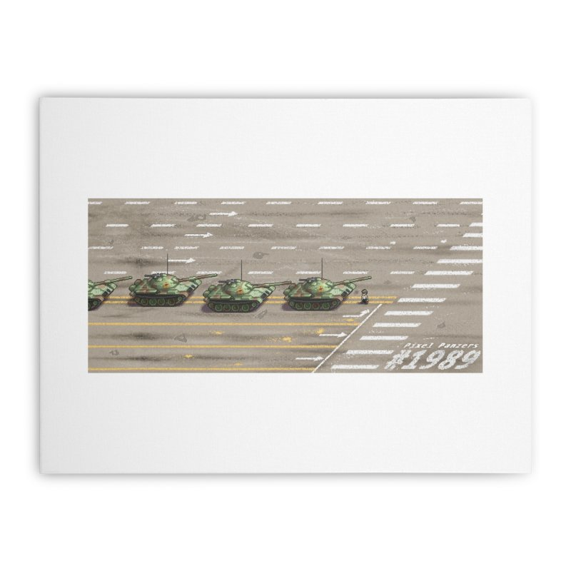 1989 Tiananmen Square Tankman Pixel Art Piece Home Stretched Canvas by Pixel Panzers's Merchandise