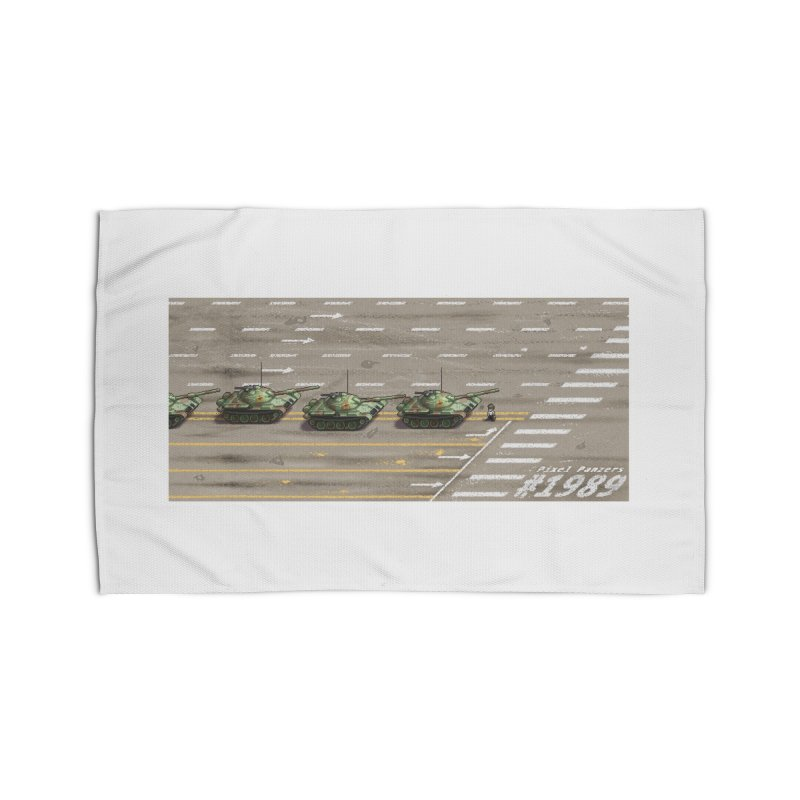 1989 Tiananmen Square Tankman Pixel Art Piece Home Rug by Pixel Panzers's Merch Emporium