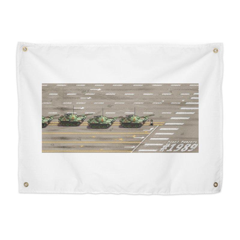 1989 Tiananmen Square Tankman Pixel Art Piece Home Tapestry by Pixel Panzers's Merchandise