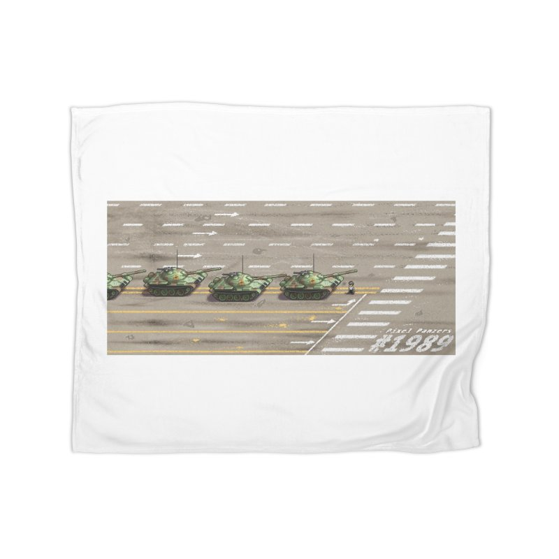 1989 Tiananmen Square Tankman Pixel Art Piece Home Blanket by Pixel Panzers's Merch Emporium