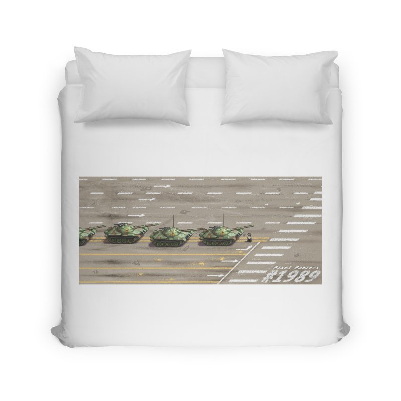 1989 Tiananmen Square Tankman Pixel Art Piece Home Duvet by Pixel Panzers's Merch Emporium