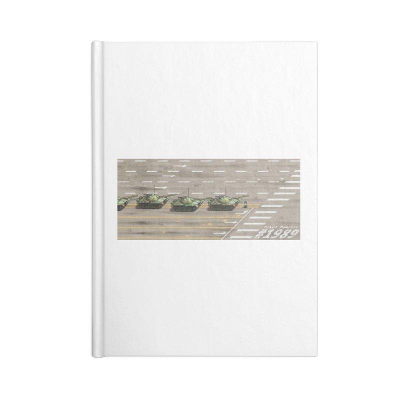 1989 Tiananmen Square Tankman Pixel Art Piece Accessories Notebook by Pixel Panzers's Merchandise