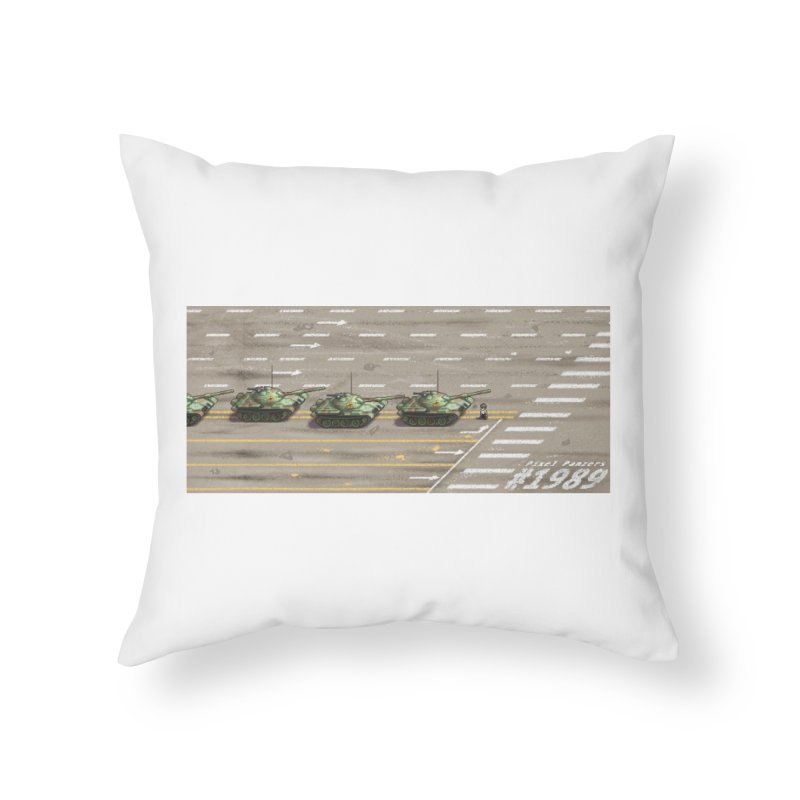 1989 Tiananmen Square Tankman Pixel Art Piece Home Throw Pillow by Pixel Panzers's Merch Emporium