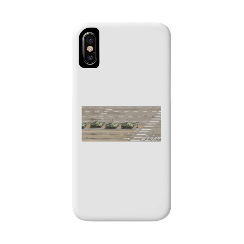 1989 Tiananmen Square Tankman Pixel Art Piece Accessories Phone Case by Pixel Panzers's Merch Emporium