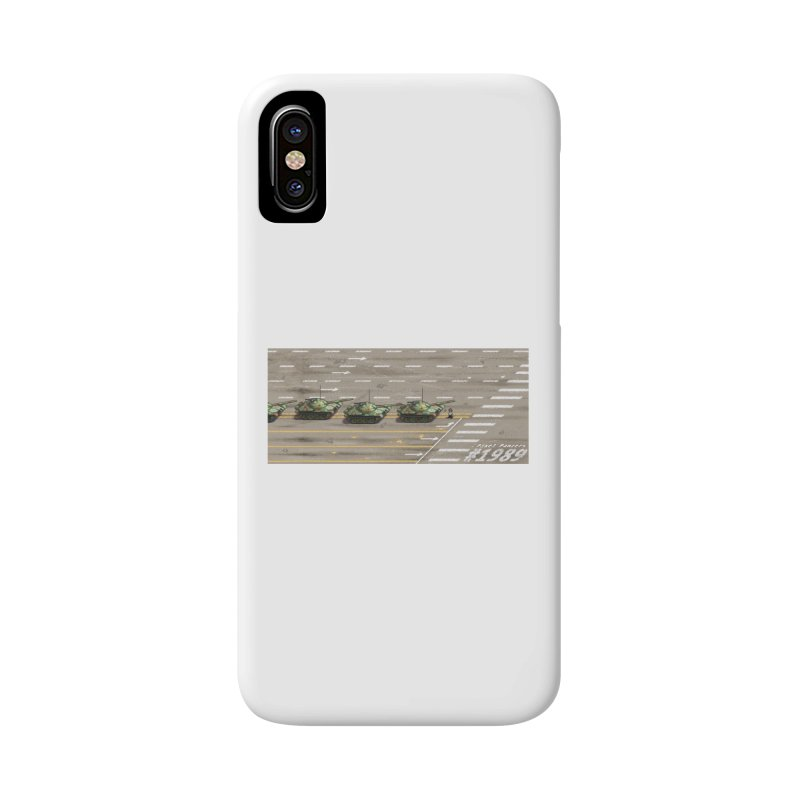 1989 Tiananmen Square Tankman Pixel Art Piece Accessories Phone Case by Pixel Panzers's Merchandise