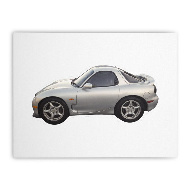 Mini Mazda RX-7 Home Stretched Canvas by Pixel Panzers's Merch Emporium