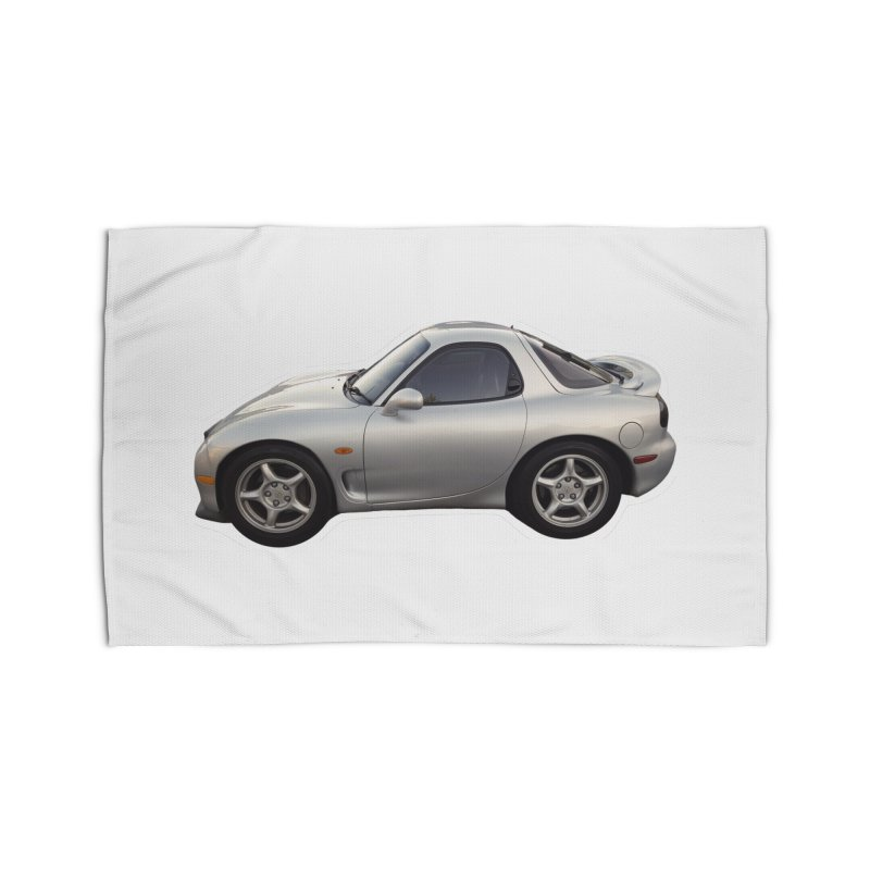 Mini Mazda RX-7 Home Rug by Pixel Panzers's Merch Emporium