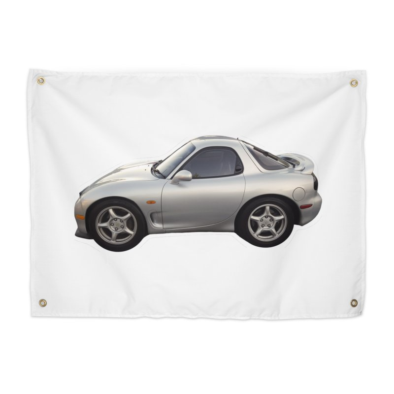 Mini Mazda RX-7 Home Tapestry by Pixel Panzers's Merch Emporium