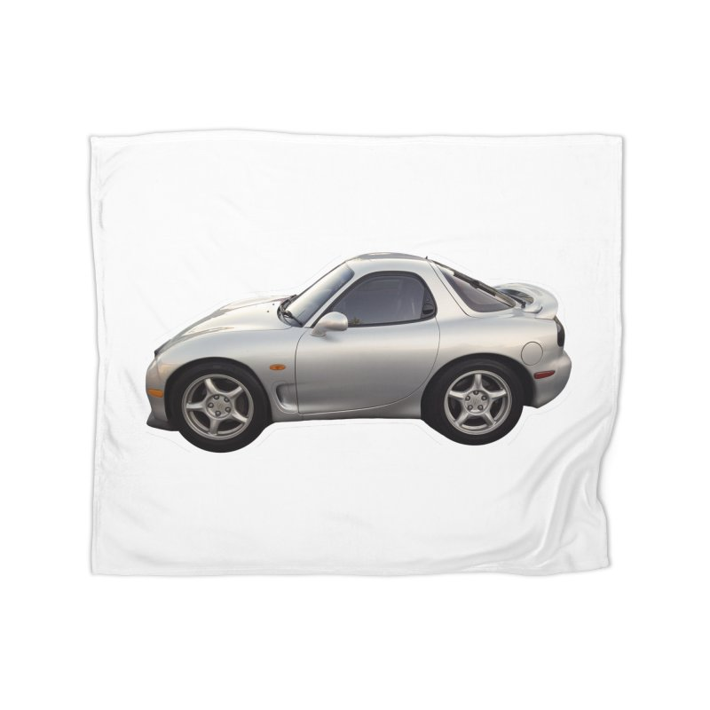 Mini Mazda RX-7 Home Blanket by Pixel Panzers's Merch Emporium