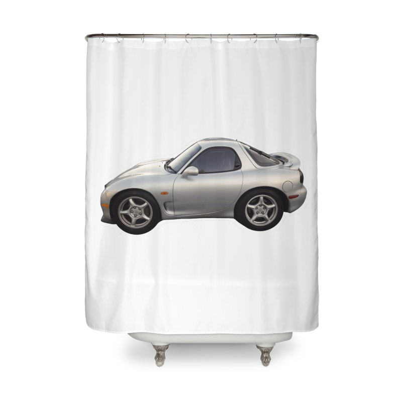 Mini Mazda RX-7 Home Shower Curtain by Pixel Panzers's Merch Emporium