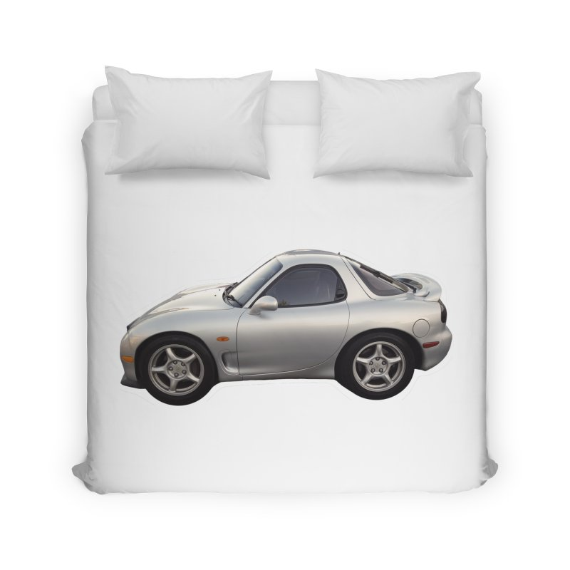 Mini Mazda RX-7 Home Duvet by Pixel Panzers's Merch Emporium