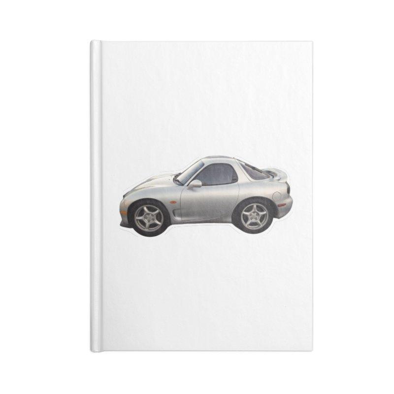 Mini Mazda RX-7 Accessories Notebook by Pixel Panzers's Merch Emporium