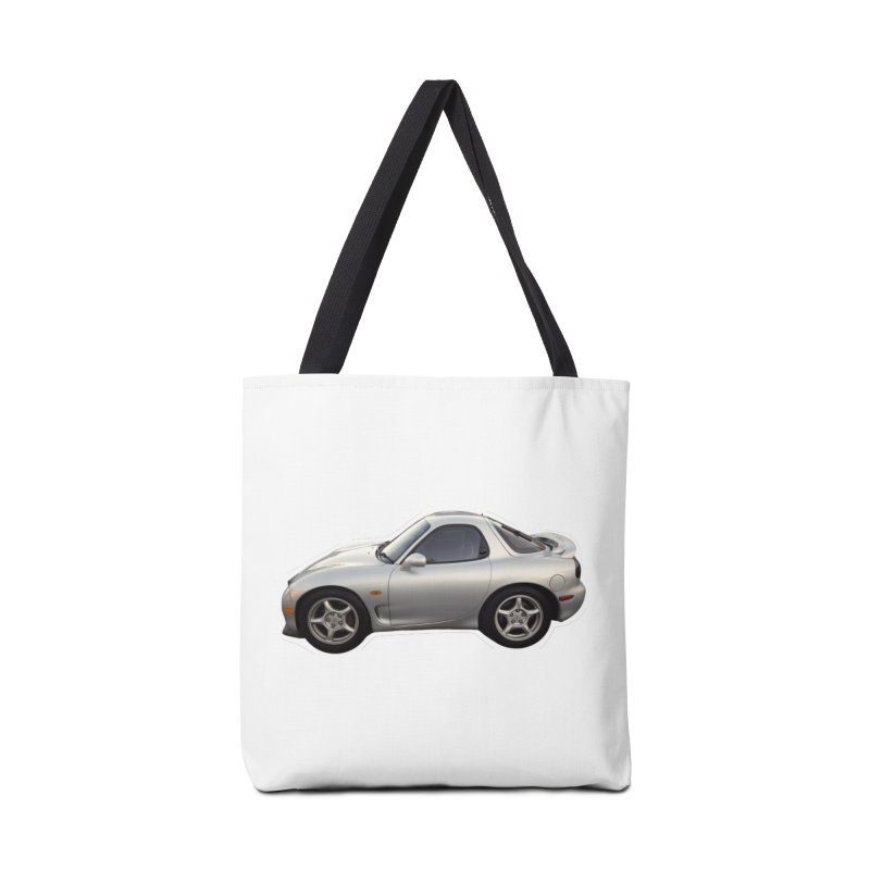 Mini Mazda RX-7 Accessories Bag by Pixel Panzers's Merch Emporium