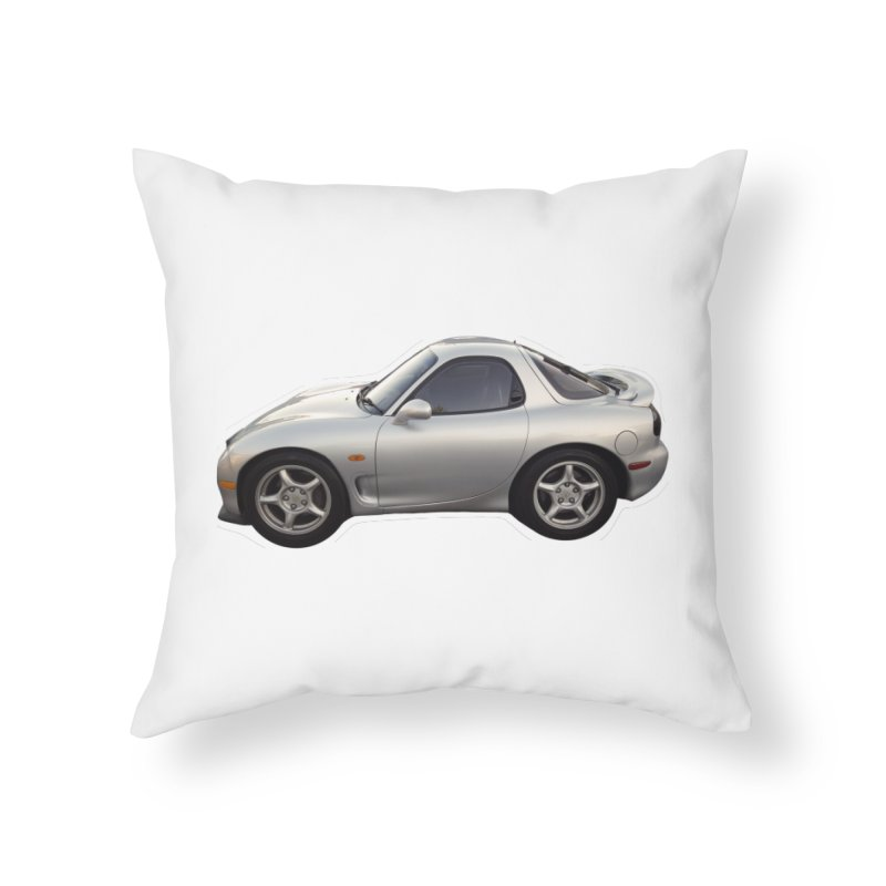 Mini Mazda RX-7 Home Throw Pillow by Pixel Panzers's Merch Emporium
