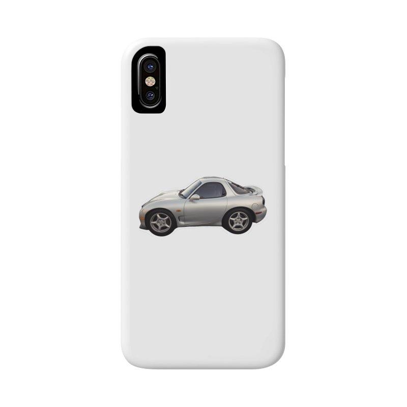 Mini Mazda RX-7 Accessories Phone Case by Pixel Panzers's Merch Emporium