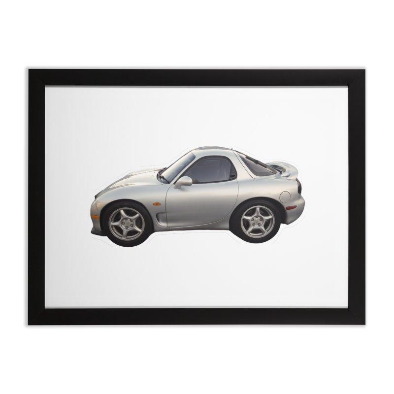 Mini Mazda RX-7 Home Framed Fine Art Print by Pixel Panzers's Merch Emporium