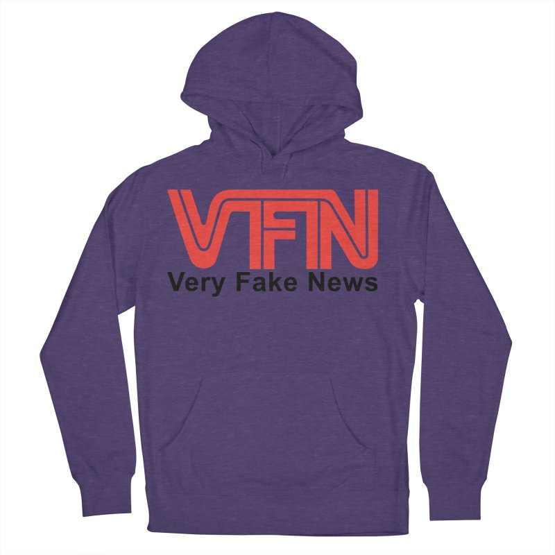 VFN - Very Fake News Network Women's French Terry Pullover Hoody by Pixel Panzers's Merchandise