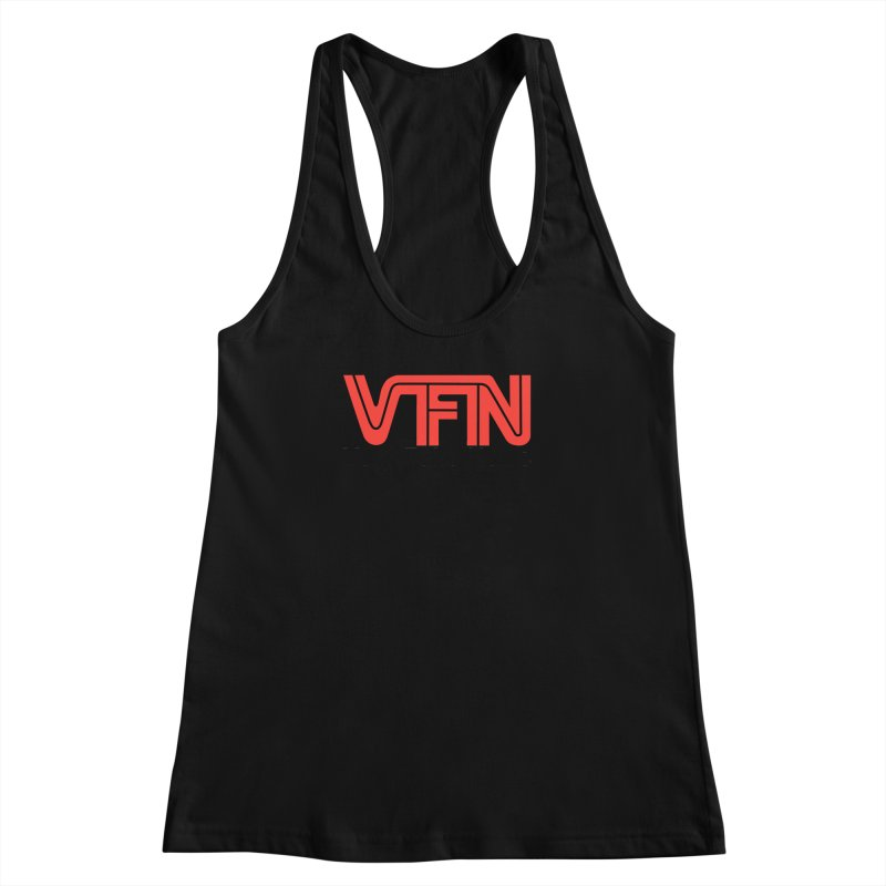 VFN - Very Fake News Network Women's Racerback Tank by Pixel Panzers's Merchandise