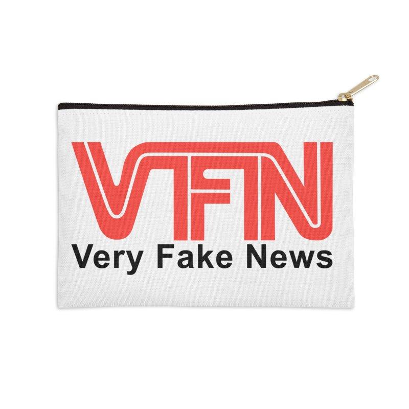 VFN - Very Fake News Network Accessories Zip Pouch by Pixel Panzers's Merch Emporium