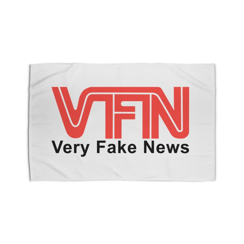 VFN - Very Fake News Network Home Rug by Pixel Panzers's Merch Emporium