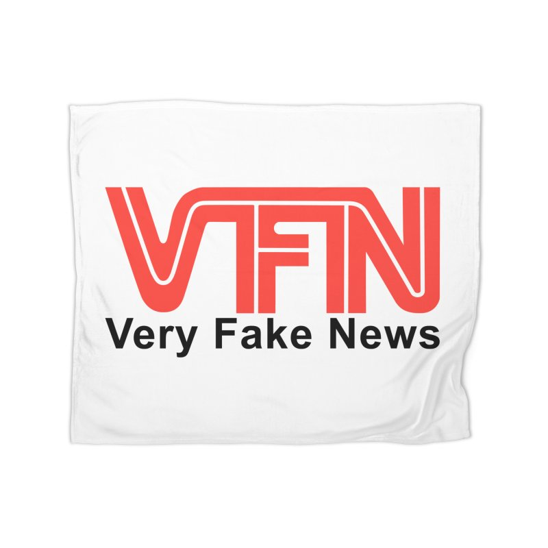 VFN - Very Fake News Network Home Blanket by Pixel Panzers's Merch Emporium