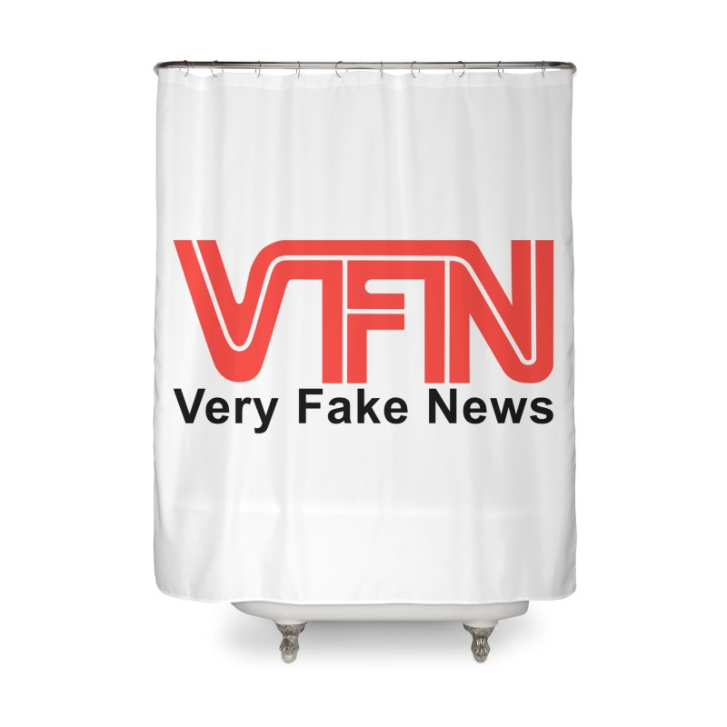VFN - Very Fake News Network Home Shower Curtain by Pixel Panzers's Merch Emporium