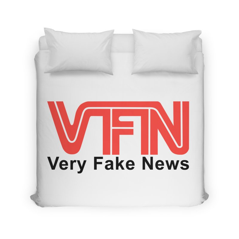 VFN - Very Fake News Network Home Duvet by Pixel Panzers's Merch Emporium