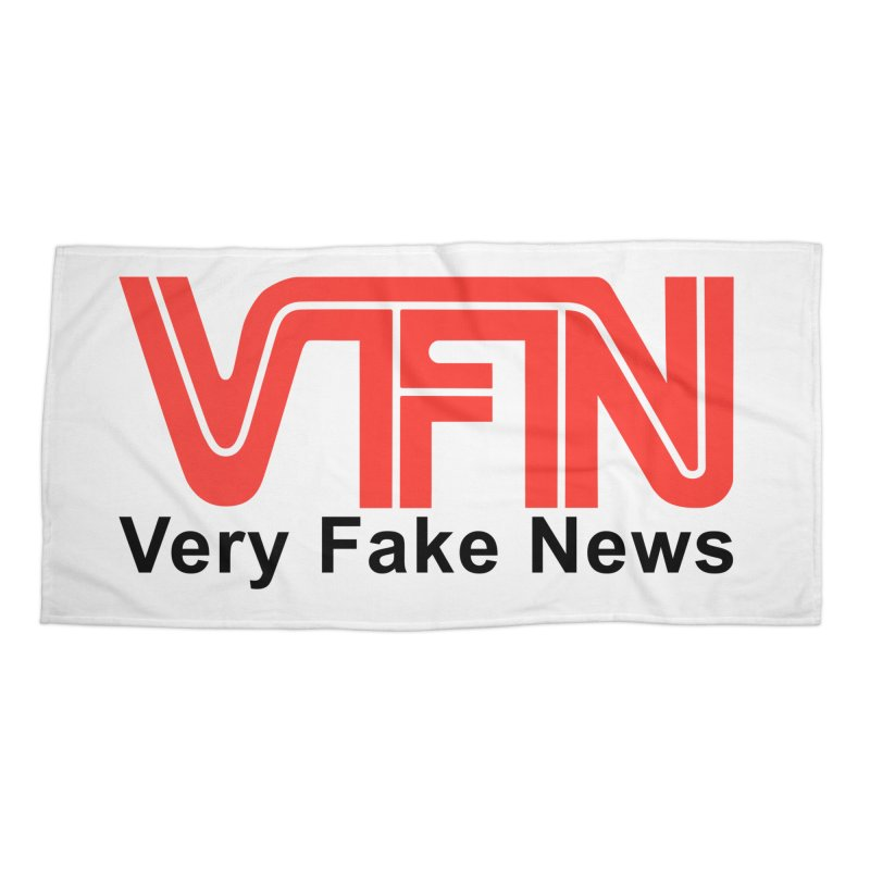VFN - Very Fake News Network Accessories Beach Towel by Pixel Panzers's Merchandise