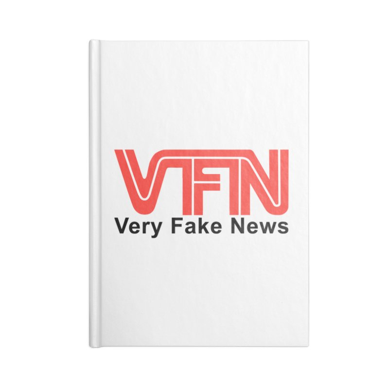 VFN - Very Fake News Network Accessories Notebook by Pixel Panzers's Merch Emporium