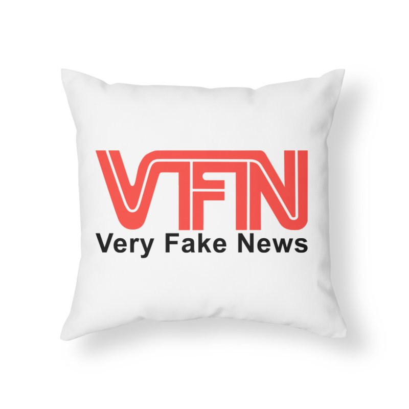 VFN - Very Fake News Network Home Throw Pillow by Pixel Panzers's Merchandise