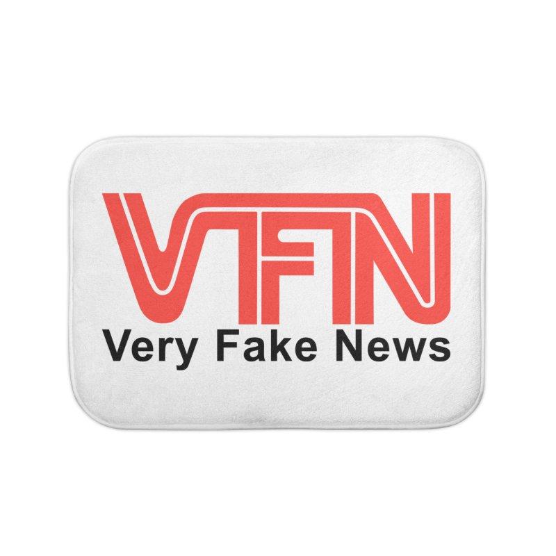 VFN - Very Fake News Network Home Bath Mat by Pixel Panzers's Merch Emporium