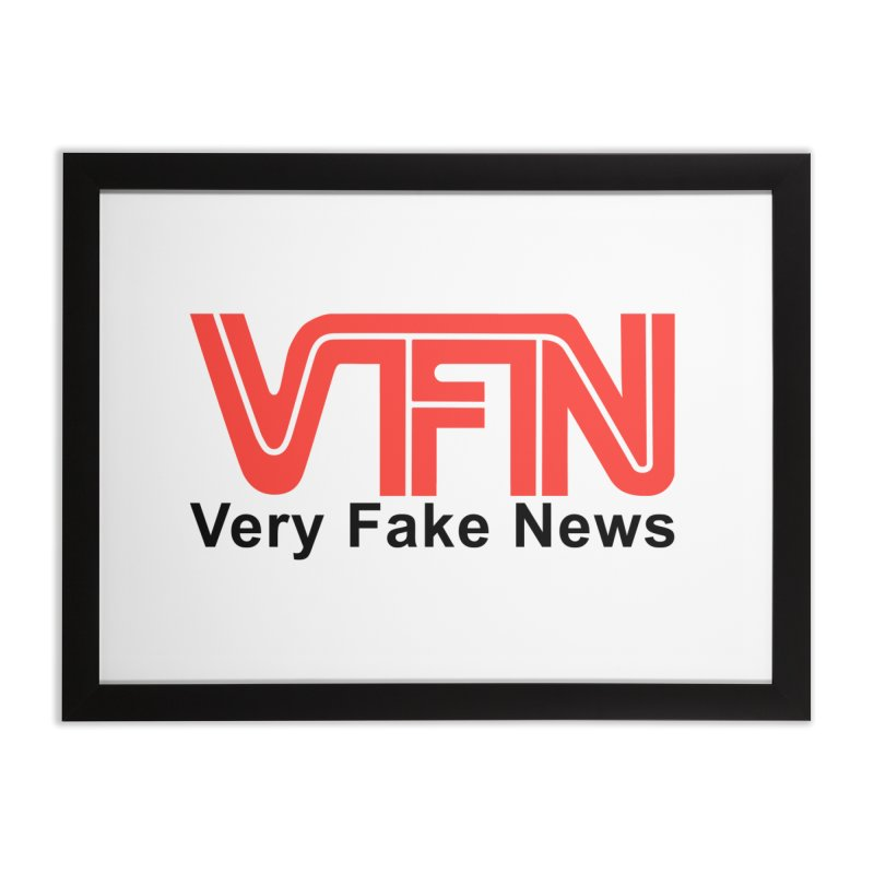 VFN - Very Fake News Network Home Framed Fine Art Print by Pixel Panzers's Merchandise