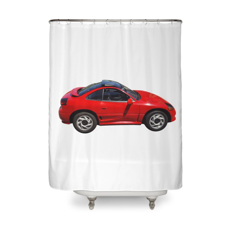 Mini Dodge Stealth RT Home Shower Curtain by Pixel Panzers's Merch Emporium