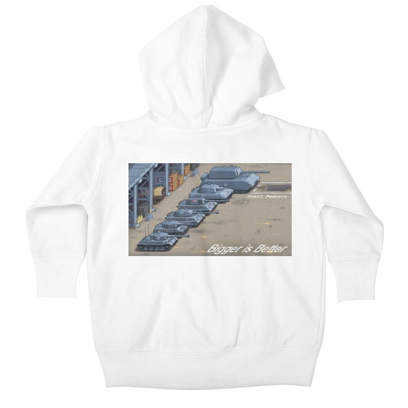 WWII Germany - Bigger is Better Kids Baby Zip-Up Hoody by Pixel Panzers's Merch Emporium