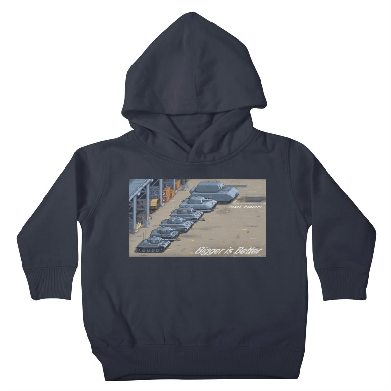 WWII Germany - Bigger is Better Kids Toddler Pullover Hoody by Pixel Panzers's Merch Emporium
