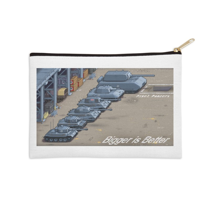 WWII Germany - Bigger is Better Accessories Zip Pouch by Pixel Panzers's Merch Emporium