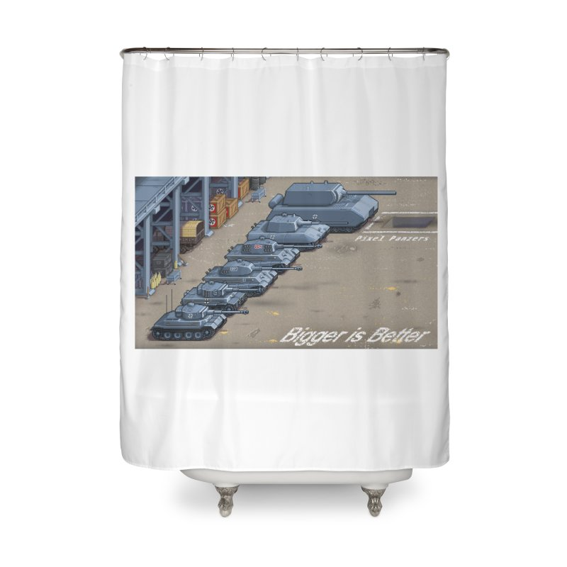 WWII Germany - Bigger is Better Home Shower Curtain by Pixel Panzers's Merch Emporium
