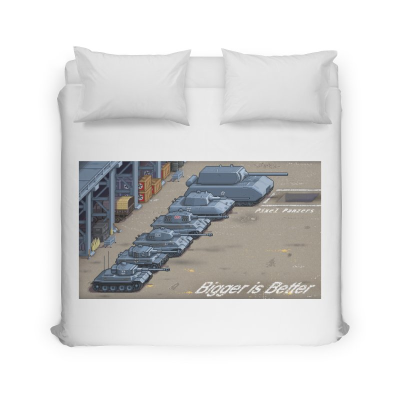 WWII Germany - Bigger is Better Home Duvet by Pixel Panzers's Merch Emporium