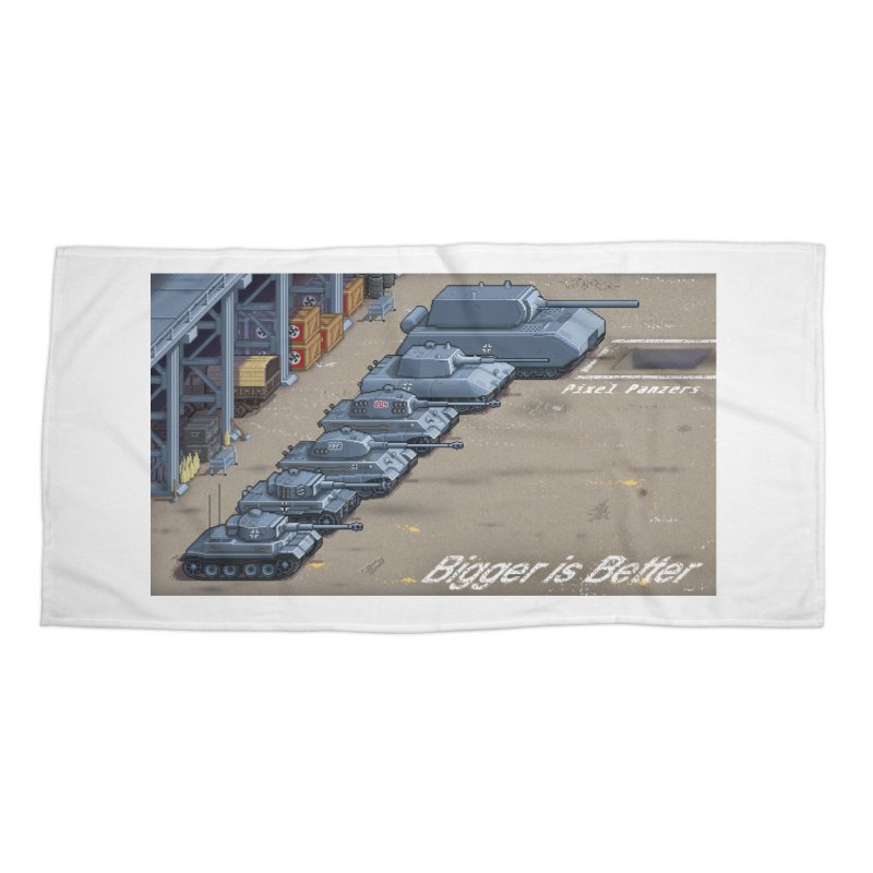 WWII Germany - Bigger is Better Accessories Beach Towel by Pixel Panzers's Merch Emporium