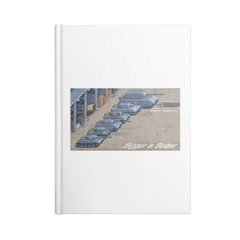 WWII Germany - Bigger is Better Accessories Notebook by Pixel Panzers's Merch Emporium